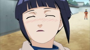 She blushes as she heard the news of being with Naruto
