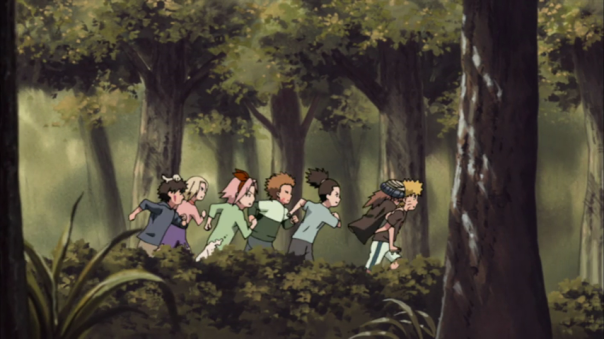 All this wasted ink. They could of showed me a filler episode of the first hokage fighting madara. No we have little ninjas running through the forest.