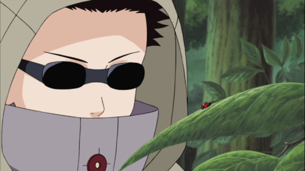 Shino doing what he does best. Play with bugs