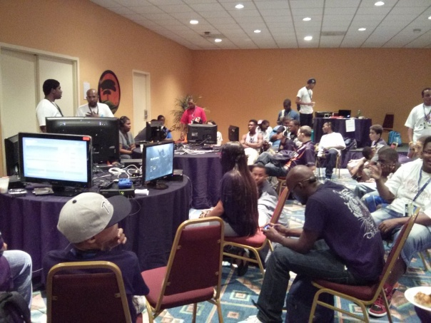 6 Xbox 360 machines. 48 gamers. Chaos.
