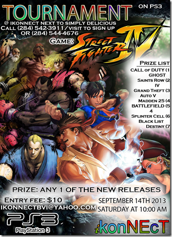 StreetFighterPS3Tournament Poster
