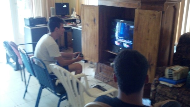 All up in the man house we gaming!!