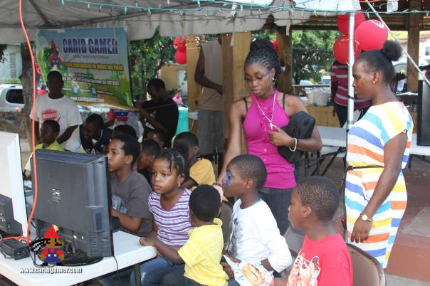So much kids we had to put some of the younger teens to work. While we handle the business of getting some of the free food!!