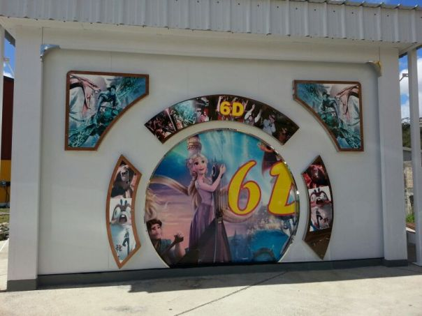 The entrance to Planet 6D Cinema in Fish Bay