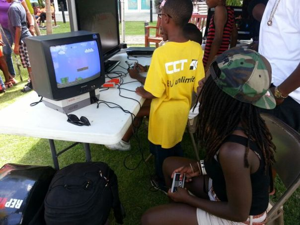 Wha you say? 8bit Mario in the park!! Real Old School!!!