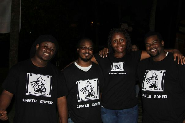 The Carib Gamer Team after a long day of work!