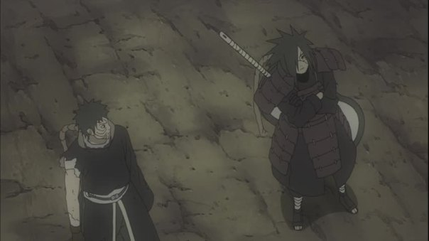 Obito: Can we please do the epic Genjutsu now... Madara: Mehson I have a new toy. Leh me play with it lil bwoy!