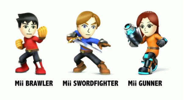 The different versions of Mii's that can be used.