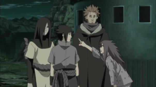 Karin: Sasuke you stabbed me and left me for dead!! I hateYOU!! Sasuke: Shut up and come with me.