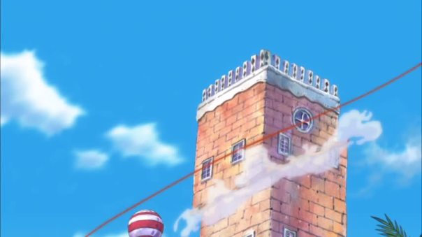 Like a good neighbor state farm is there. BOOM Law come in clean lol Save Sanji life! But that building...epic