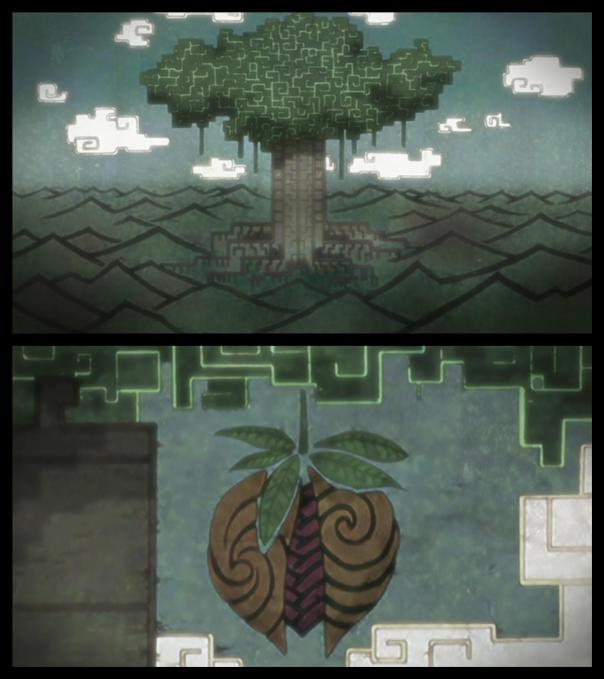 The Divine Tree with the Forbidden Fruit