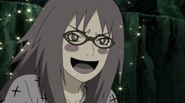 This girl literally want to lick Sasuke. Talk about a freak...