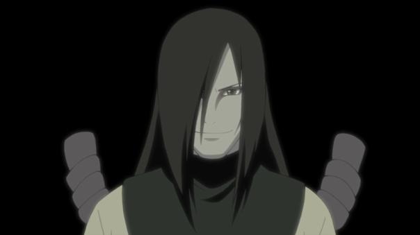 Orochimaru here just lusting over Sasuke.