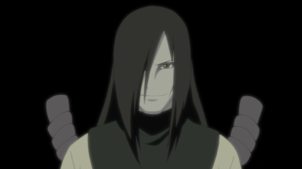 Orochimaru here just lusting over Sasuke.