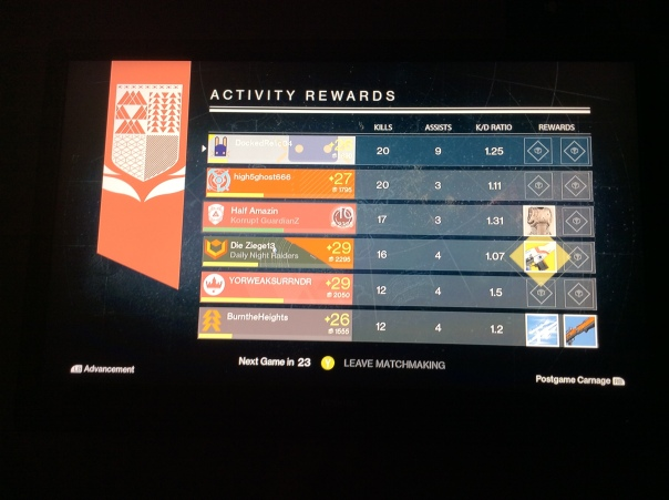 Dude got an exotic Gun for doing absolutely NOTHING! Yep that is Destiny Logic.